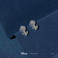 Short Story: Disney Earring Belle Rose - Silver image