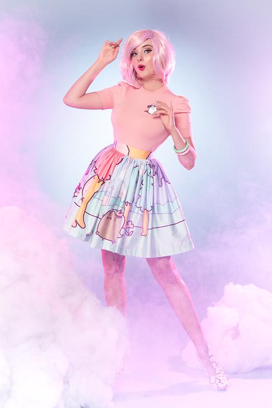 Sarsparilly: Pusheenicorn Midi Skirt - S