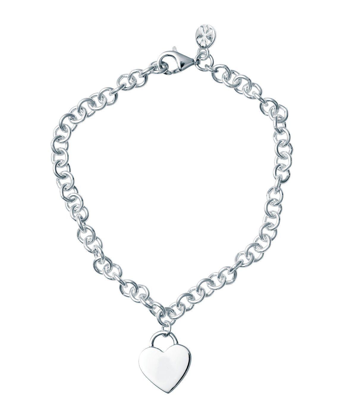 Bo + Bala: Heart Padlock Charm Bracelet - Plain image