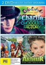Charlie And The Chocolate Factory / Arthur And The Invisibles (2 Disc Set) on DVD