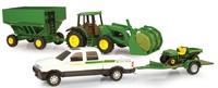 John Deere: 20cm Mega Hauling Set - White Pickup