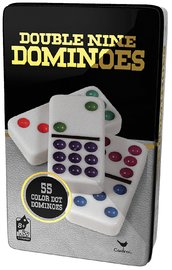 Ideal: Double 9 Dominoes in Tin