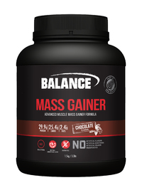 Balance Naturals Mass Gainer Protein Powder - Chocolate (1.5kg)
