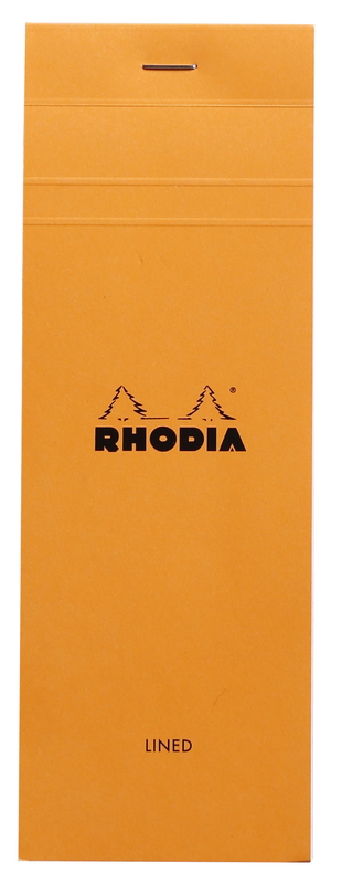 Bloc Rhodia Orange Shopping 80 Lined Sheets