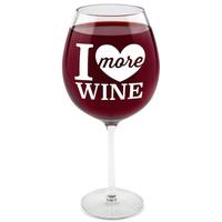 BigMouth Gigantic Wine Glass (I Love More Wine)