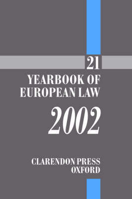 The The Yearbook of European Law: v.21 image