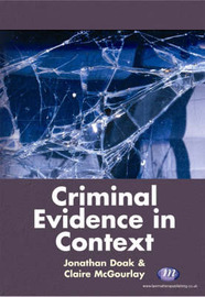 Criminal Evidence in Context by Claire McGourlay image