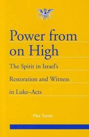 Power from on High: The Spirit in Israel's Restoration and Witness in Luke-Acts by Max Turner image