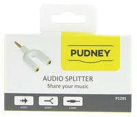 Pudney: 3.5mm Stereo Plug To 2x 3.5mm Stereo Sockets Adaptor