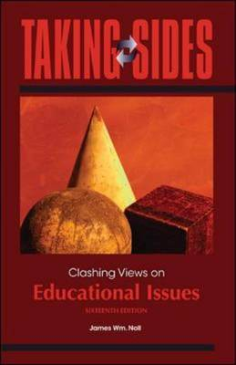 Clashing Views on Educational Issues by James Wm. Noll image