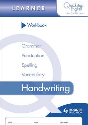 Quickstep English Workbook Handwriting Learner Stage by Sue Hackman image