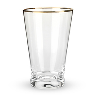 Twine: Rustic Farmhouse Pint Glass - Gold Rimmed