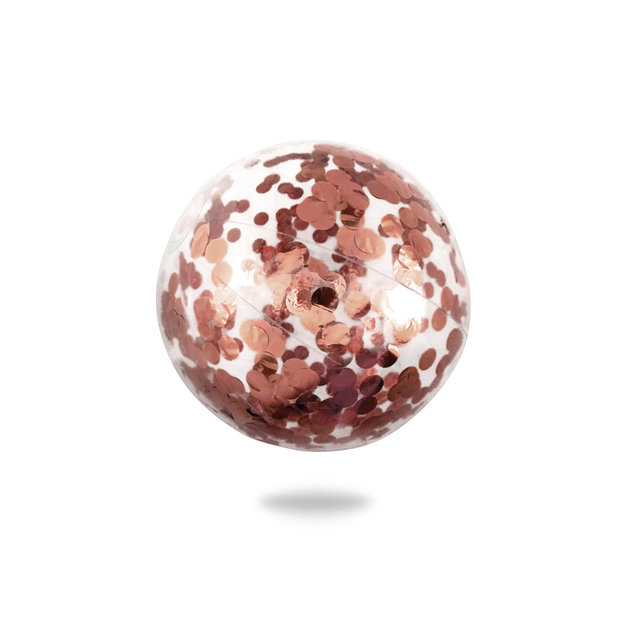 Minnidip: Confetti Beach Ball (Rose Gold)