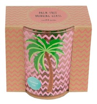 Tropical Summer: Glass Tumbler - Pink