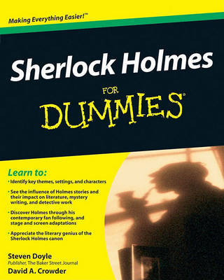 Sherlock Holmes For Dummies by Steven Doyle image