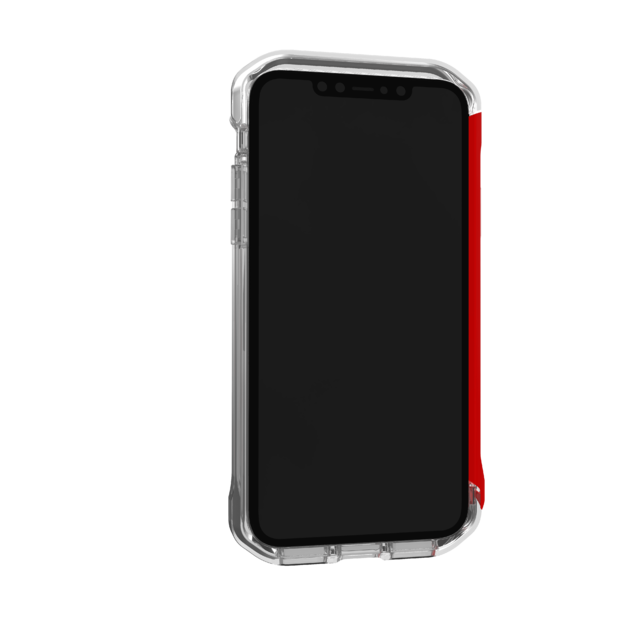 Element: Case Rail iPhone 11 - Clear/Solid Red