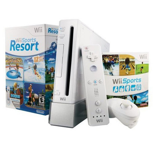 Nintendo Wii Console White with Wii Sports and Wii Sports Resort for Nintendo Wii