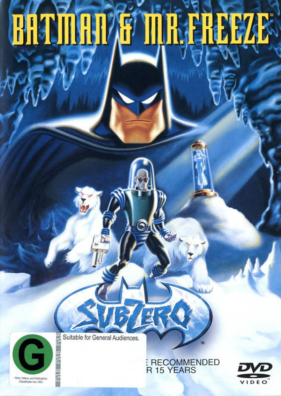 Batman and Mr Freeze on DVD