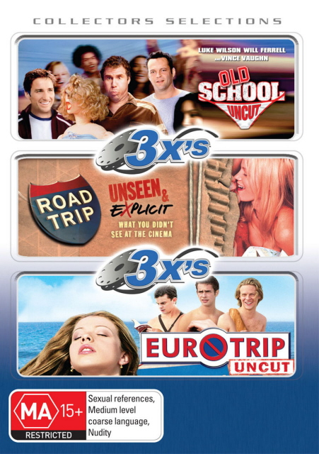 3x's - Old School / Road Trip / Eurotrip (Collectors Selections) (3 Disc Set) on DVD image