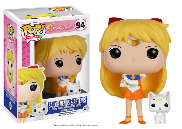 Sailor Moon - Sailor Venus w/ Artemis Pop! Vinyl Figure
