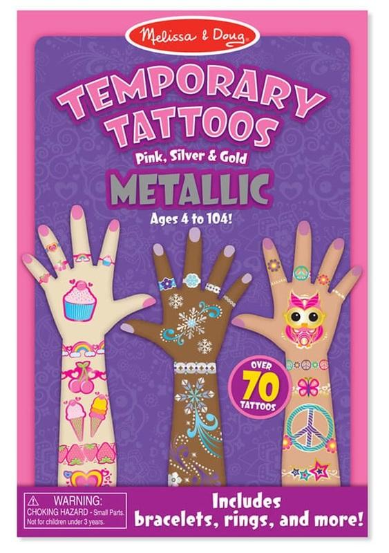 Melissa & Doug: My First Temporary Tattoos - Metallic