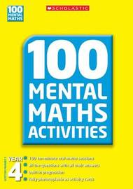 100 Mental Maths Activities Year 4 by Joan Nield image