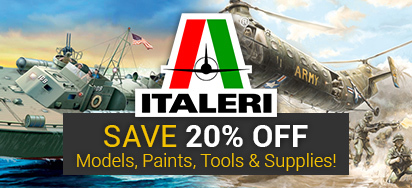 Save 20% off Italeri!