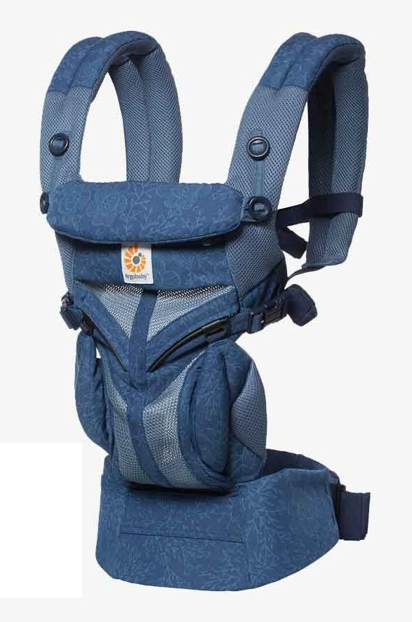 Ergobaby: Omni 360 - Cool Air Mesh All-In-One Baby Carrier (Blue Blooms) image