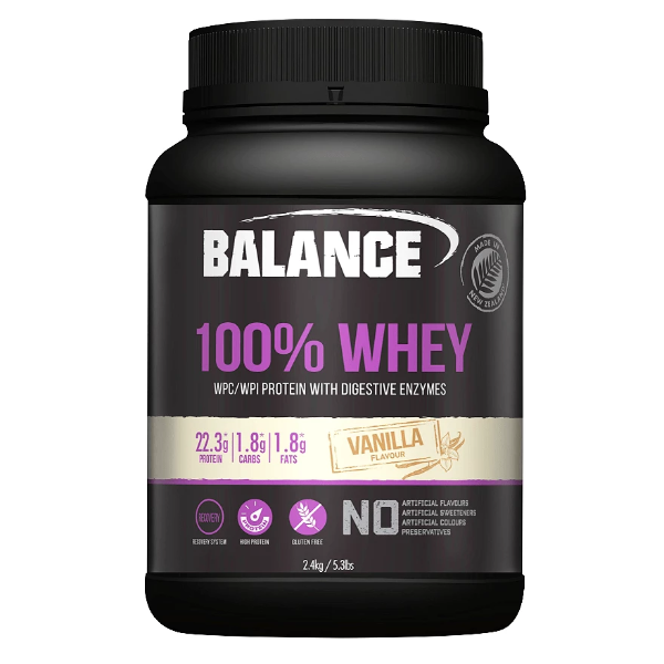 Balance 100% Whey Protein Powder - Vanilla (2.4kg)