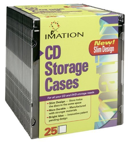 Imation BLACK SLIM JEWEL CASES - 25 PACK