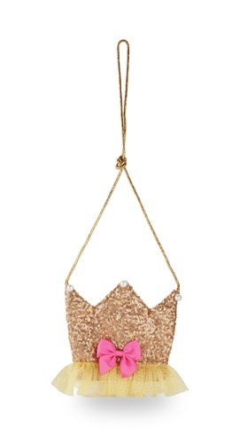 Pink Poppy: Forever Sparkle Crown Shoulder Bag - (Gold)