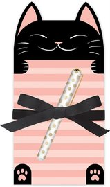 Lady Jayne: Die Cut Notepad - Cat Stripe