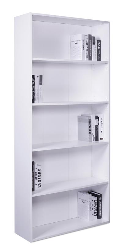 4 Shelf Bookcase - White