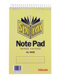Spirax 563B Reporters Notepad