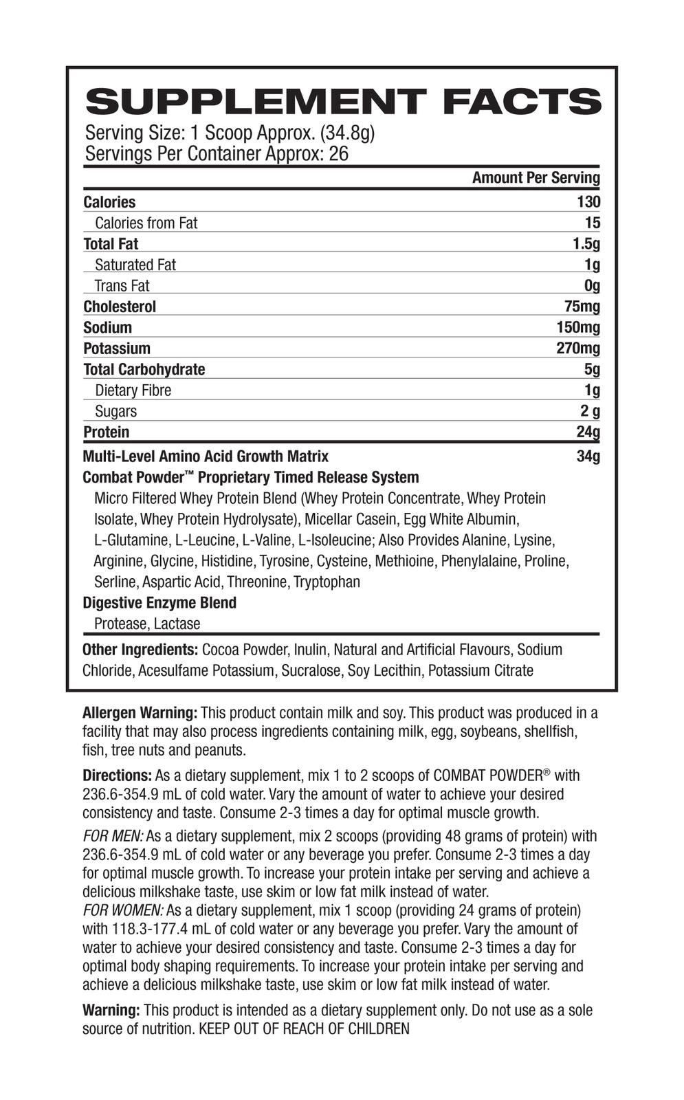 MusclePharm Combat - Banana Cream (1.8kg) image