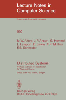 Distributed Systems by M W Alford