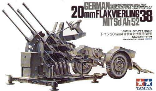 Tamiya German 2cm Flackvierling 38 1:35 Model Kit