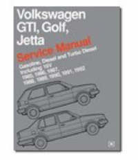 Volkswagen GTI, Golf and Jetta Service Manual 1985-92 image