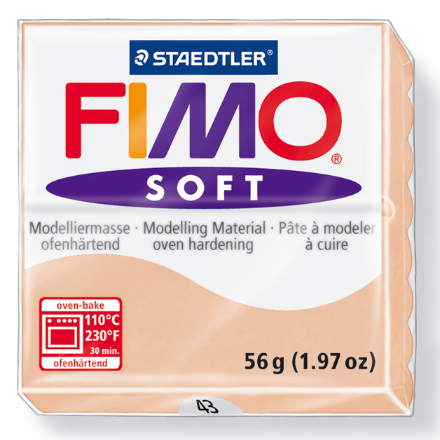 Staedtler Fimo Soft Modelling Clay Block - Light Flesh (56g)