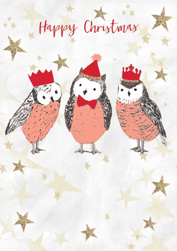 Hammond Gower: Three Owls - Greeting Card image