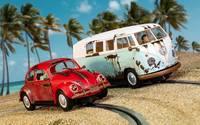 Scalextric: Legends Rusty Rides Volkswagen Beetle & T1B Camper Van - Limited Edition