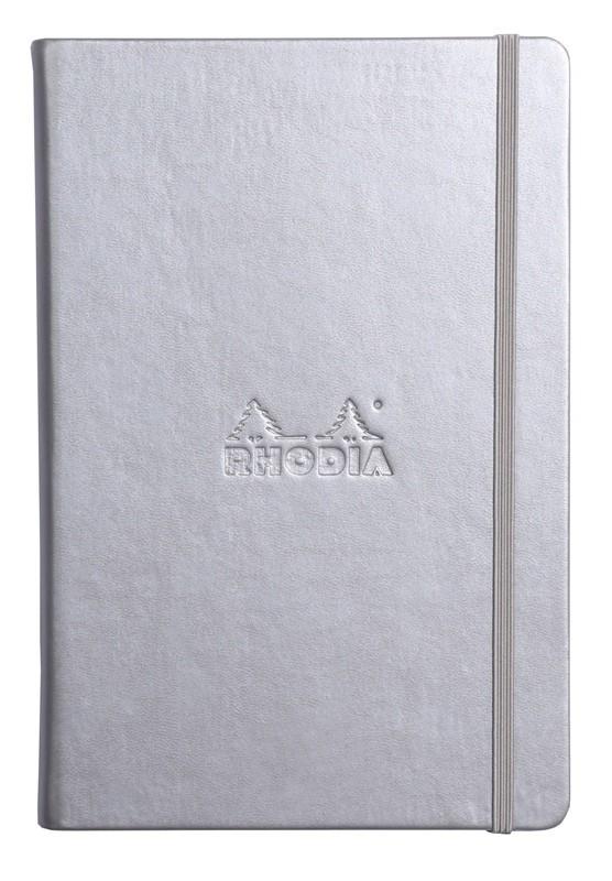 Rhodia Webnotebook - A5 Silver (Lined)