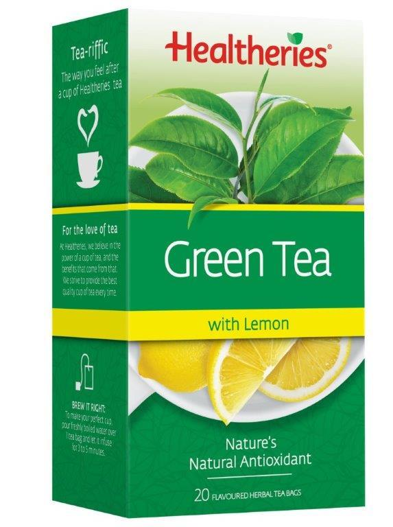 Healtheries Green Tea with Lemon (Pack of 20) image