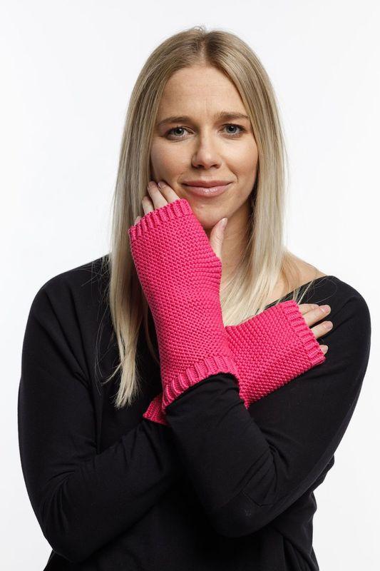 Home-Lee: Fingerless Gloves - Raspberry Pink