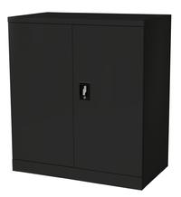 Proceed Steel Cupboard 2 Shelf - W900mm x D500mm x H1000mm (Matte Black)