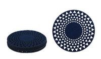 Round Felt Coaster- Dark Blue
