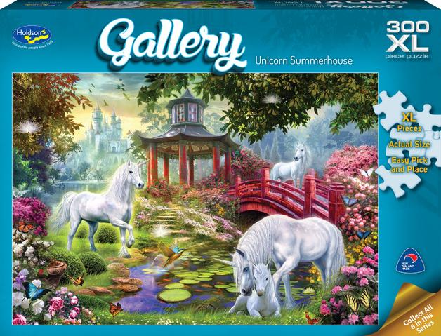 Holdson XL: 300 Piece Puzzle - Gallery (Unicorn Summerhouse)