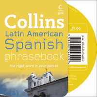 Latin American Spanish Phrasebook CD Pack by Collins UK image