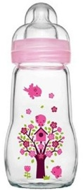 MAM Feel Good Glass Bottle 260ml - Pink