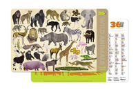 Crocodile Creek 2-Sided Placemat - Wild Animals